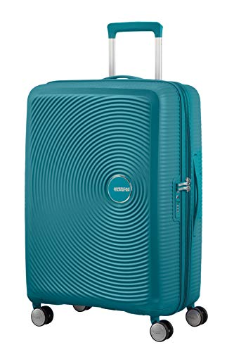 American Tourister Soundbox – Spinner Medium Expandable Maleta, 67 cm, 81 Liters, Verde (Jade Green)