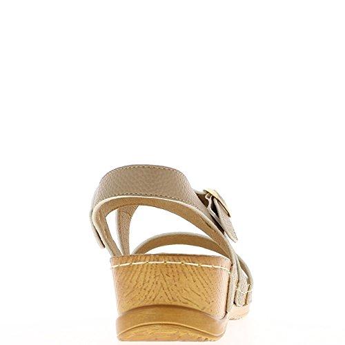 Keil Sandalen Maulwürfe Komfort bei 5cm Ferse