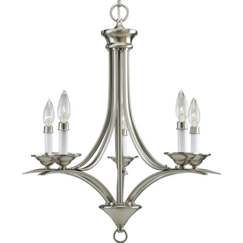 Progress Lighting P4327-09 5-Light Chandelier, Brushed Nickel