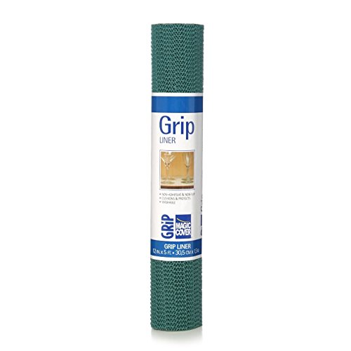 Magic Cover Grip Liner For Drawer, Shelf, Counter Tops and Surface Setting - Hunter Green - 18