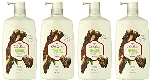 Old Spice Body Wash for Men, Timber with Sandalwood Scent, 25 Fluid Ounce (Pack of ()