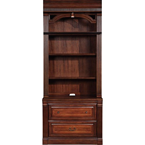 Parker House Wellington 2Pc Lateral File & Hutch in Brown - Hutch Parker