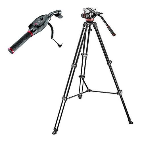 Manfrotto MVH502A Fluid Head and MVT502AM Tripod System with