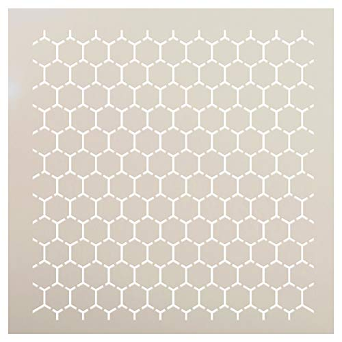 Reverse Honeycomb Stencil by StudioR12   Country Repeating Pattern Art - Reusable Mylar Template   Painting, Chalk, Mixed Media   Use for Crafting, DIY Home Decor - STCL1027 (12