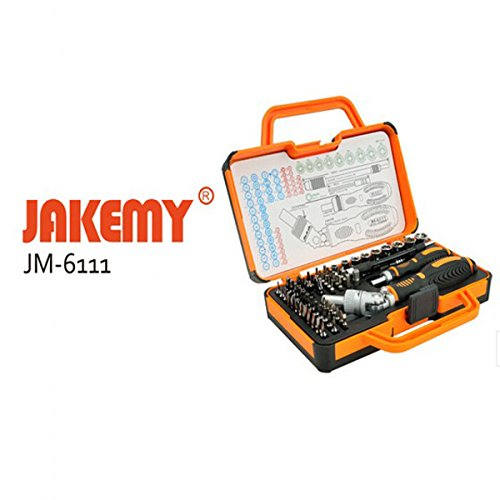 Generic Jakemy JM-6111 69 in 1 Multipurpose Precision Screwdriver Hardware Repair Open Tools Demolition Kit for Electronic Devices Eyeglass