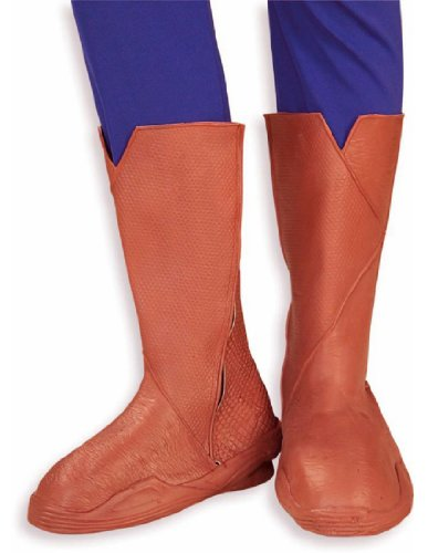 Rubie's Costume Co Men's Superman Returns Deluxe Molded Adult Boot Tops, Brown, (Superman Boot Tops)