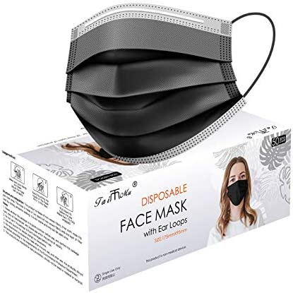 Face Masks for Coronavịrus Protection, Colorful Disposable Face Mask Colorful-Black