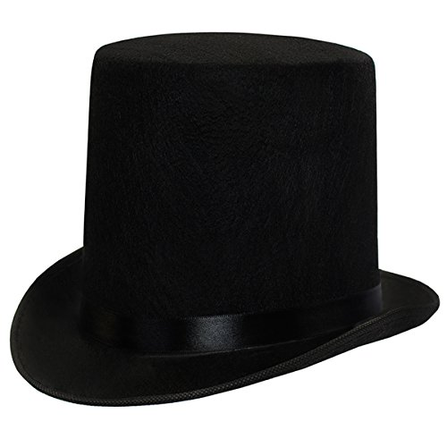 Groom Top Hat (Dress Up Hats for Adults - Costume Party Hats for Men Women Unisex BY Funny Party Hats (Black 7
