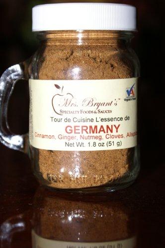 German Spice Blend Pumpkin Pie Seasoning - Mrs. Bryant's Germany Spice Blend Pumpkin Pie Gourmet blend of Cinnamon, Ginger, Nutmeg, Cloves, Allspice, White Pepper - No irradiation, Kosher, No fillers (1/2 cup volume)
