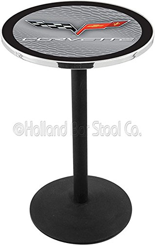 UPC 071235039738, Holland Bar Stool L214 - Black Wrinkle Corvette - C6 Silver Pub Table W/ Black Accent - 42 Inch