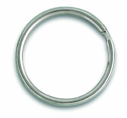 Chapuis 1140/16N Lote de 100 anillas abiertas - Acero niquelado - Diá metro interior 30 mm
