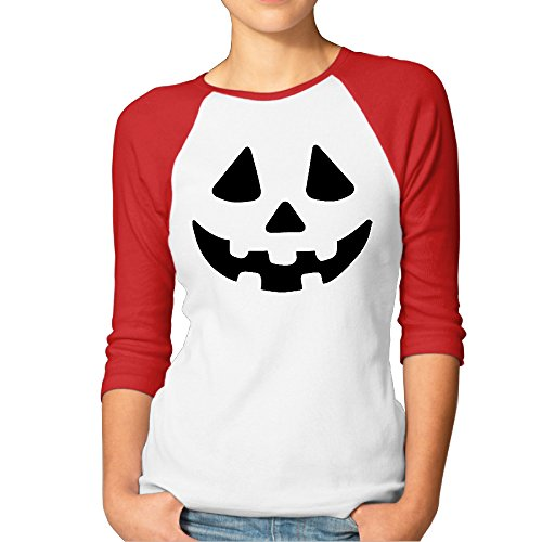 Women's Raglan Jack O Lantern Halloween Party Sportshirt 3/4 (Jogos De Halloween)