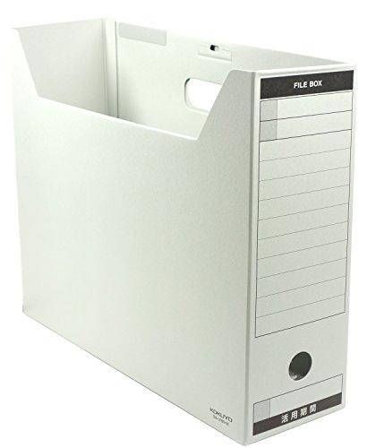 Paperboard Box Files - Kokuyo file box IroAtsu with paperboard lid B4 gray B4-LFBN-M