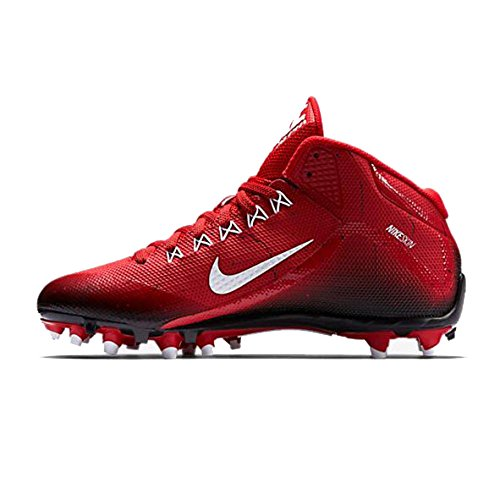 Nike Mens Alpha Pro 2 Football Cleat Game Red/Black/White Pvh4rc6F