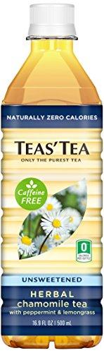 [Teas' Tea Unsweetened Herbal Chamomile Tea, 16.9 Ounce (Pack of 12) Packaging May Vary] (Caffeine Free Iced Tea)
