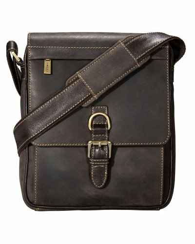 3/4 Flap Messenger Bag (Visconti 16011 Distressed Leather Messenger Crossbody Bag with Front Buckle (Oil Brown))