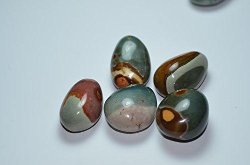 Ocean Jasper Crystal (Besthk Ocean Jasper Agate Smooth Palm Stone Crystal Healing Gemstone Worry Therapy (1pc))