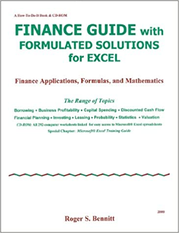 Amazon.com: Finance Guide with Formulated Solutions for Excel ...