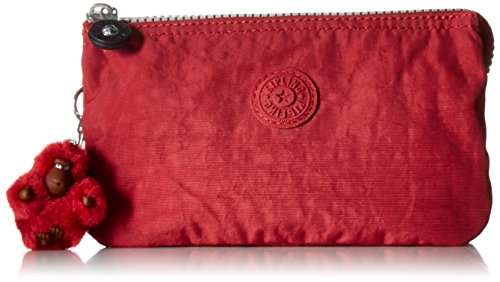 Kipling Creativity Large Solid Pouch, Candied Red