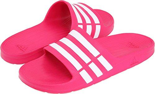 adidas Performance Kids' Duramo Slide Sandal (Toddler/Little Kid/Big Kid),Pink Buzz/Running White/Pink Buzz, (Flip Flops Sandals Pink)
