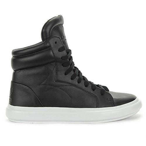 Adidas Women's Honey 3.0 Mid Black/White Leather Shoes S82479 (9) - Adidas Womens Honey