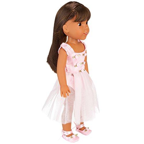 Pink Butterfly Closet Ballet Ballerina Dance Dress for 14 inch Dolls Fits American Girl Wellie Wishers Dolls (Heart Dress Ballerina)