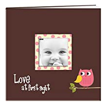 Pioneer Photo Albums MB-10EVFB/O Baby Owl Printed Designer Frame Cover Memory Book, 12 by 12-Inch, Pink