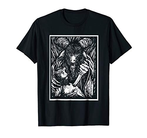 Antichrist Goat Head T Shirt by Kraftd