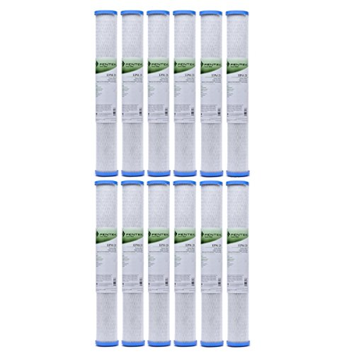 Pentek EPM-20 10 Micron Standard 20 Inch Carbon Block Water Filter 12 Pack by Pentek