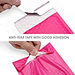 Metronic Pink Bubble Mailers 50 Pack, 4×8 Bubble Poly Mailers, Self-Seal Shipping Bags, Padded Envelopes, Bubble…
