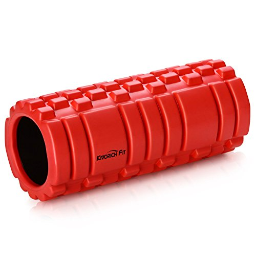 Akapola Yoga Roller Foam for Massage,Physical Therapy, Pain Release & Myofascial Release, Foam Roller for Workout Muscles Red ()