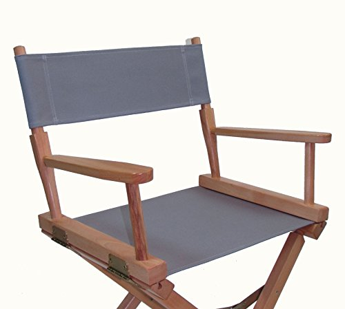 Replacement Cover Canvas for Directors Chair (Flat Stick) (Grey)