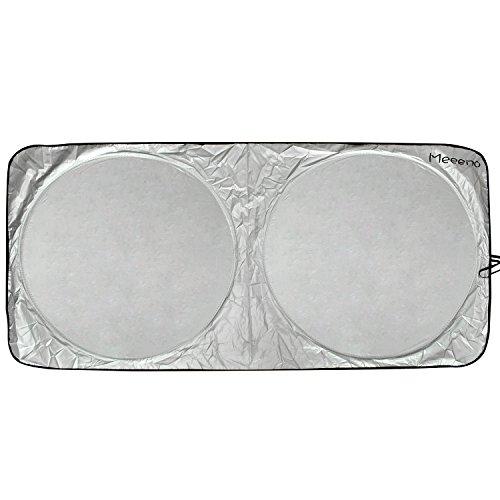 Auto Sonnenschutz Sonnenblende Frontscheibe Windschutzscheibe UV-Schutz Sonnenschirm (Schwarz-160*80)