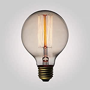 Edison Vintage Light Bulb G80 220-240V40W E27 Antique Light Handmade Carbon Wire Decorative Light