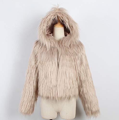 Ladies Winter Warm Short Parka Hooded Pink Khaki Womens Outerwear Gray Jacket Luxury Fur TUDUZ Green Khaki Faux Solid White Black Red Beige Coat Orange Wine 87tq0xzw