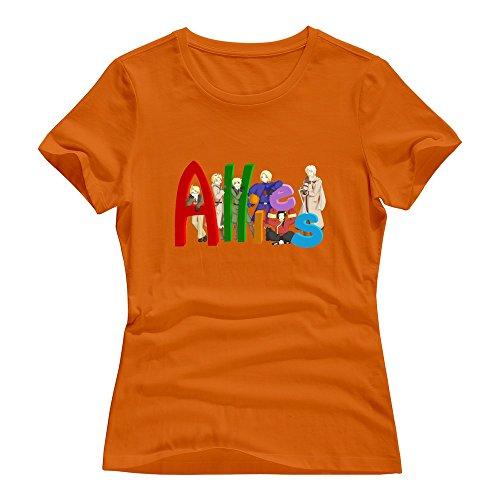 Allies Roundneck Ninva Female T-shirts Orange Measure L