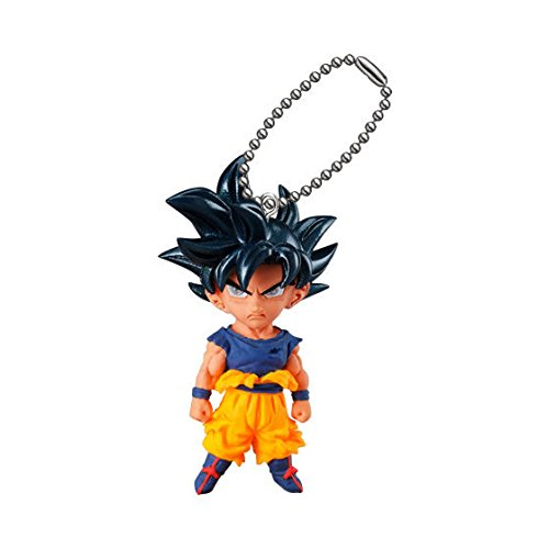 (Dragon Ball UDM Best 31 Ultra Instinct Goku Gacha Gashapon Capsule Mascot Swing Key Chain Mini Figure Anime Art Collection)