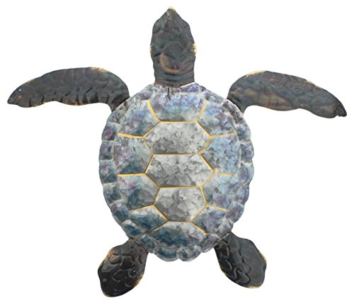 Distinctive Designs Iridescent Metal Sea Turtle Wall Decor 20