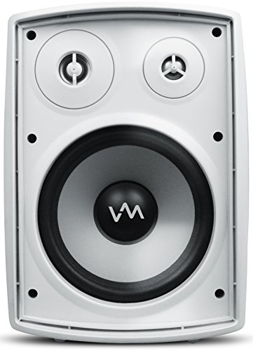 4) VM Audio SR-WOD6 White Waterproof Indoor/Outdoor Patio Speakers Set + Wiring