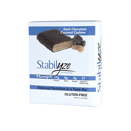 Stabilyze Nutrition Bar - Dark Chocolate Coconut Cashew,12 (Dark Chocolate Cashew)