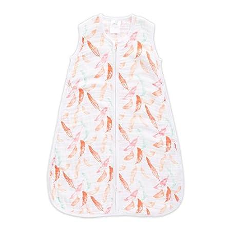 Aden + Anais  1.0 TOG sleeping bag, 100% cotton muslin, Petal Bloom, +18m Aden and Anais 8181G