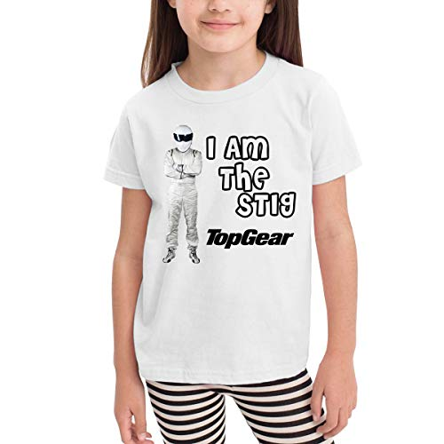 I Am Stig 100% Cotton Toddler Baby Boys Girls Kids Short Sleeve T Shirt Top Tee Clothes 2-6 T White (Best Of The Stig)