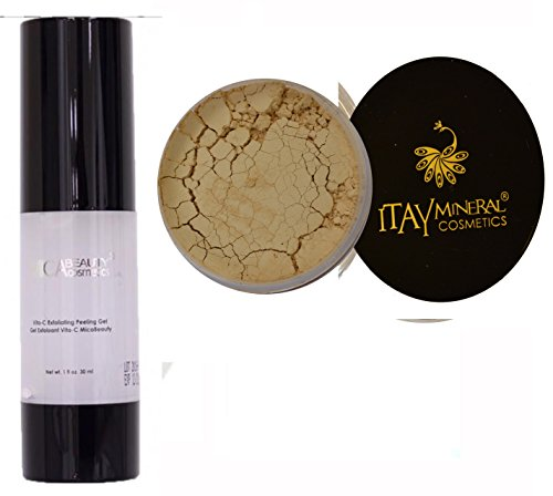 (Bundle 2 Items Mica Beauty Vita C Facial Peeling + Itay Mineral Foundation 9 Gram 100% Natural (MF-1 Cream Marfil very Light))