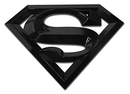 (Superman Black Acrylic Auto Emblem )