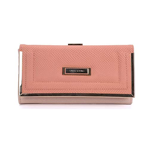 Young Buckle Purses Pattern Butterfly Retro Bag sy1565 Card Sally Gifts Holder Lady Floral Pink Wallets Women U4dnAnq