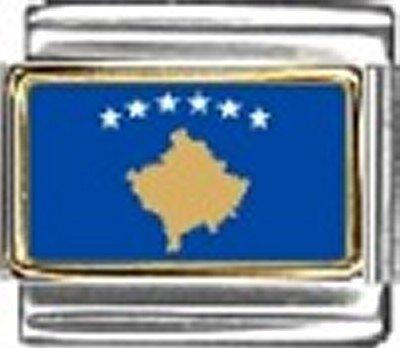 Kosovo Photo Flag Italian Charm Bracelet Jewelry - Charm New 9mm Italian Photo