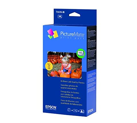 Epson PictureMate Print Pack (1 Ink Cartridge/100 sheets of Matte Paper) - T5570-M (Epson Picturemate T5570 Ink)