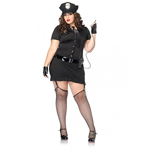 [Mememall Fashion Sexy Police Cop Uniform Officer Costume Women Halloween Cosplay Fancy Dress] (1940s Cop Costume)