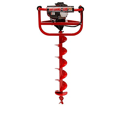 RICE Hydro, Inc. DirtDawg Cub Heavy Duty One Man 6 Inch Auger Post Hole Digger with GX35 4 Stroke Engine