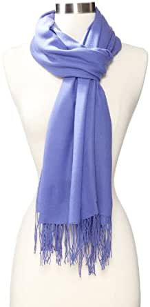 Amicale Women's Solid Pashmina Scarf, Dark Periwinkle, One Size